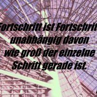 Tagesinspiration, Gerd Ziegler, Fortschritt ist Fortschritt