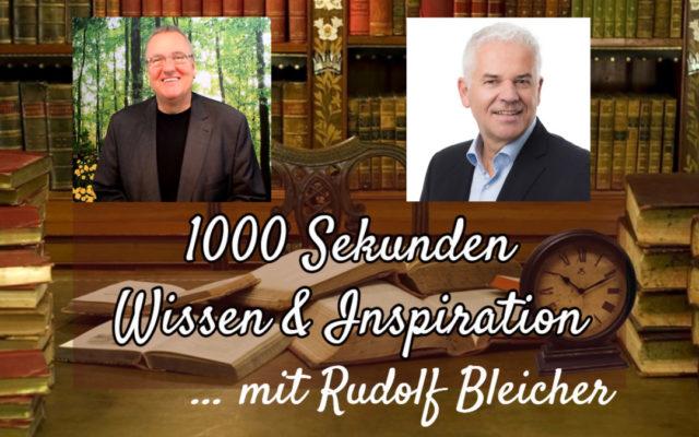 Spirituelle Intelligenz Rudolf Bleicher im Interview